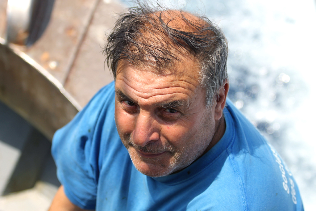 Alfonso, one of the last prawn fishermen in Sanremo