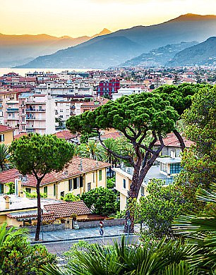 Golden hues: Bordighera is a small seaside town on Italy's Ligurian coast Read more: http://www.dailymail.co.uk/travel/travelsupplement/article-4392914/Exploring-Italian-seaside-town-Bordighera.html#ixzz4gheclbzy Follow us: @MailOnline on Twitter | DailyMail on Facebook