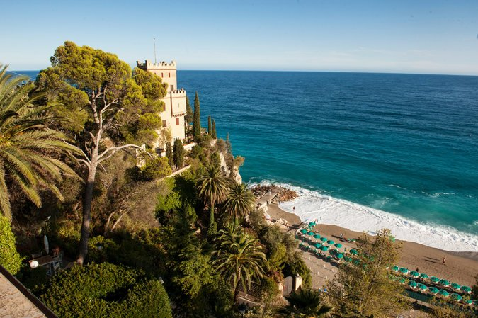 View from Hotel Punta Est, Finale Ligure. Credit Susan Wright for The New York Times